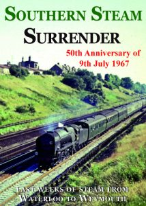 Strictly Bulleids......... Celebrate the 50th anniversary of the end of steam in the south in 1967 with these two DVDs. New DVD and book will be published in June 2017 - 'Southern Steam Surrender' and 'Waterloo Sunset'. (Bulleid and 67 DVD here) Coming soon - 'Southern Steam Surrender' - archive programme covering the final weeks and months of steam on the Southern. Interviews with footplate crews who worked these last services up to 9th July 1967. 'Waterloo Sunset' - A paperback book book full of colour images of the final weeks with scenes never before published all along the route from Waterloo to Bournemouth.