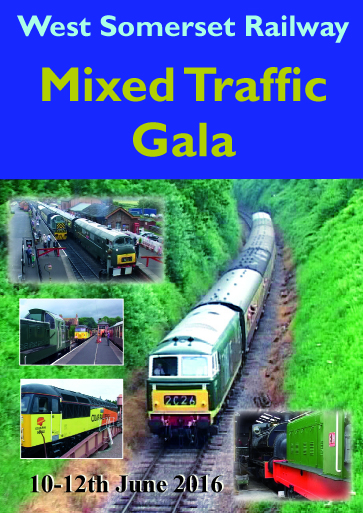 West Somerset Railway Mixed Traffic Gala - 10-12th June 2016