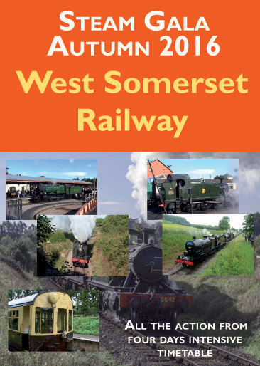 The West Somerset Railway is well-known for its two main steam galas each year. The autumn gala in 2016 was to follow a highly successful Spring Gala devoted to the S&D. In October 2016 some smaller GW engines were hired in to complete a line-up which celebrated a typical GW branch line atmosphere. Stars of the show were No. 1450 and newly restored autocoach No. 233, plus Pannier tank No. 6435 which was brought in from the Bodmin & Wenford line. We celebrate this gala with scenes of workings along the 22 mile railway and conclude with sequences of main line tours which have appeared on the WSR in recent months. Locomotive roster includes - Nos. 1450, 6435, 5542, 4936, 6990, 44422, 53808 and Kilmersdon