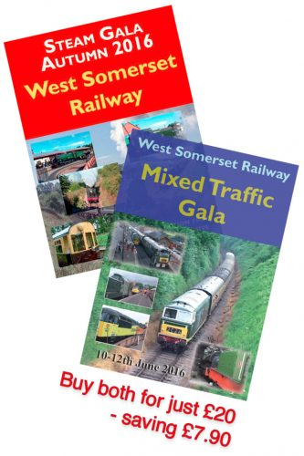 Special Offer - West Somerset Railway Autumn Steam & Mixed Traffic Galas 2016. Buy bothDVDs for just £20 saving £7.90 on the separatepurchase prices.