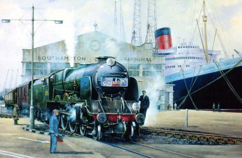 The Cunarder at Southampton Docks