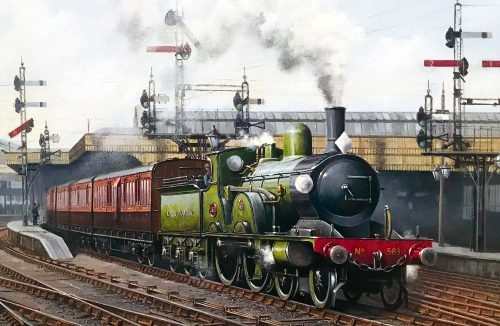 T3 No. 563 at Waterloo (card sold in aid of the restoration of T3 No. 563 at the Swanage Railway